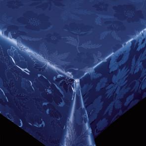 Diamond Dark Blue - pvc fri voksdug med flot præget mønster