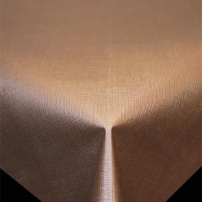 Diamond Hør-Struktur Skovbrun - ensfarvet pvc fri voksdug