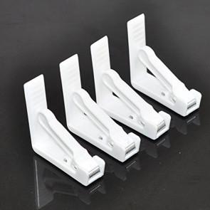 4 stk. dugklemmer, hvid