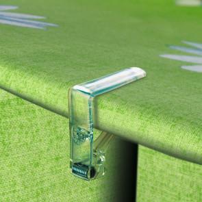 Gennemsigtig transparent dugklemme - 4 stk.