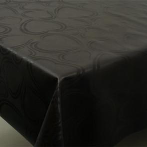 Juledug - Harts, sort akryldug med hjerter, 140cm bred