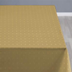 Squares Golden - Södahl damask tekstildug med skridsikker bagside