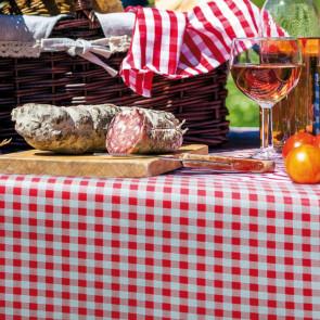 Trend Little Square Red -  rød og hvid ternet pvc fri voksdug