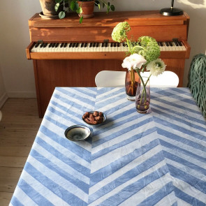Zigsak Blue, Note by Susanne Schjerning akryldug med antiskrid